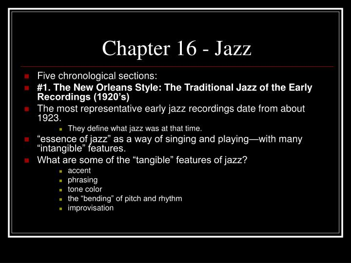 chapter 16 jazz n.