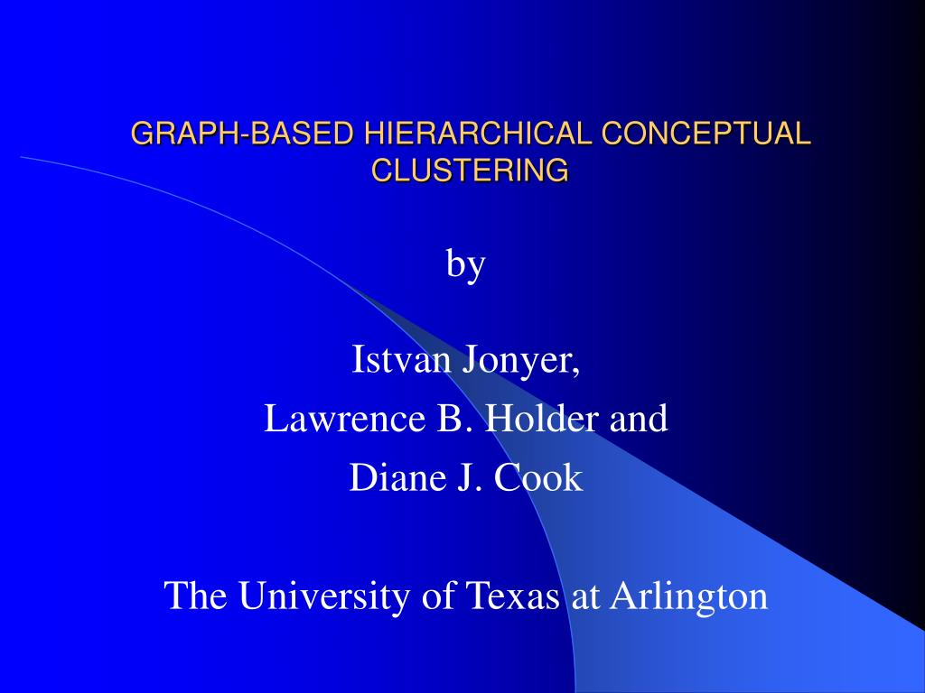 graph based hierarchical conceptual clustering