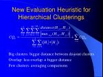 new evaluation heuristic for hierarchical clusterings23