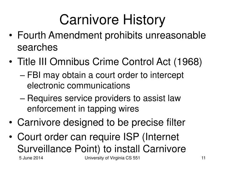 Carnivore History
