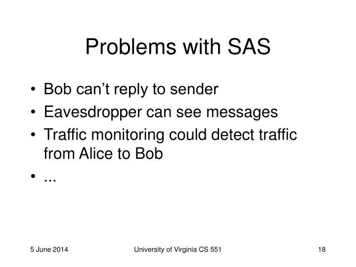 Problems with SAS