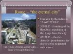 rome the eternal city