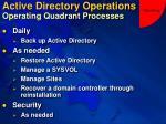 active directory operations operating quadrant processes