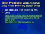 best practices windows server 2003 active directory branch office1