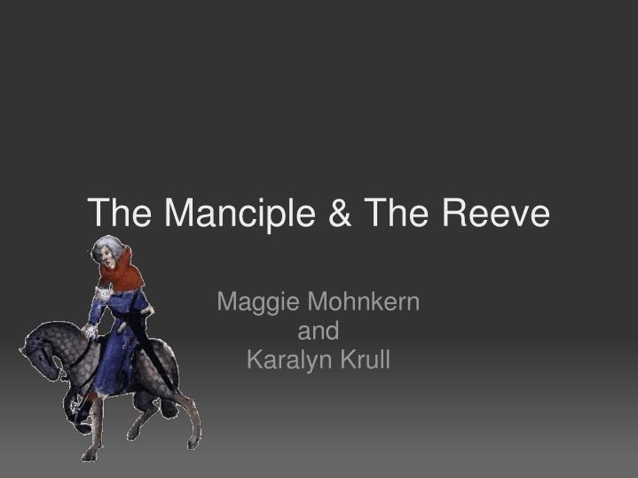 the manciple the reeve n.