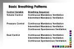 basic breathing patterns