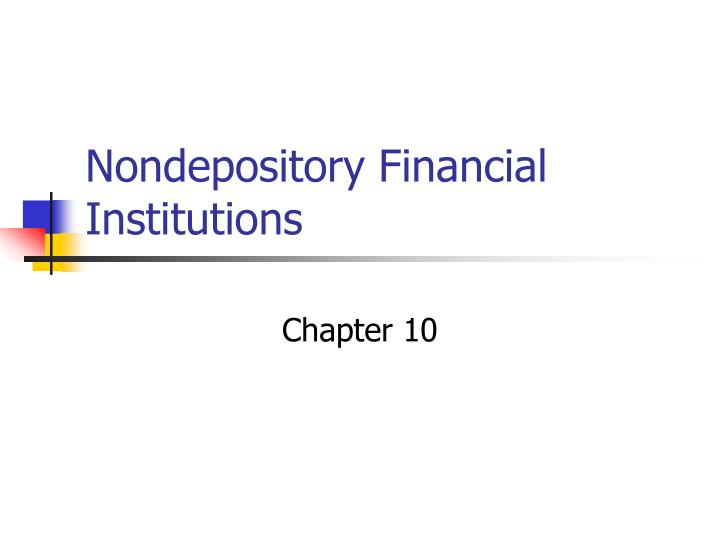 nondepository financial institutions n.