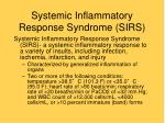systemic inflammatory response syndrome sirs