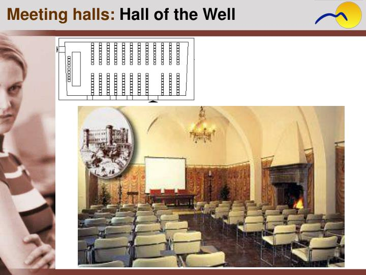 Meeting halls: