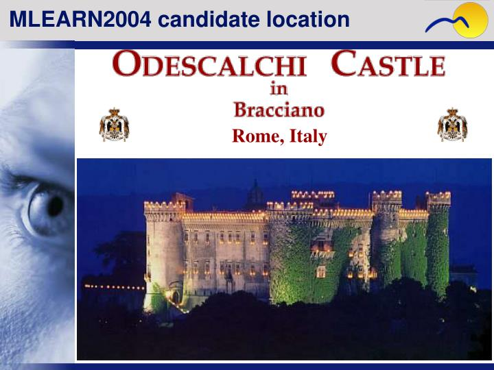 MLEARN2004 candidate location