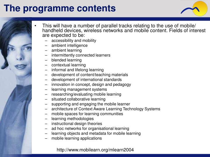 The programme contents