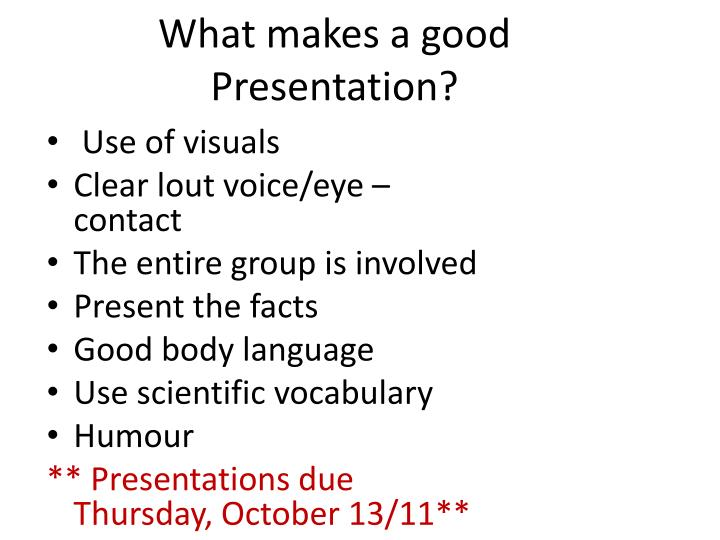 ppt what makes a good presentation powerpoint presentation id  what makes a good presentation