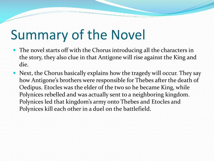 Summary of the novel