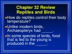 chapter 32 review reptiles and birds10