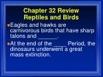 chapter 32 review reptiles and birds13