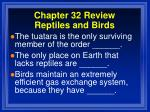 chapter 32 review reptiles and birds2