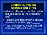 chapter 32 review reptiles and birds3