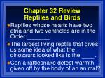 chapter 32 review reptiles and birds6