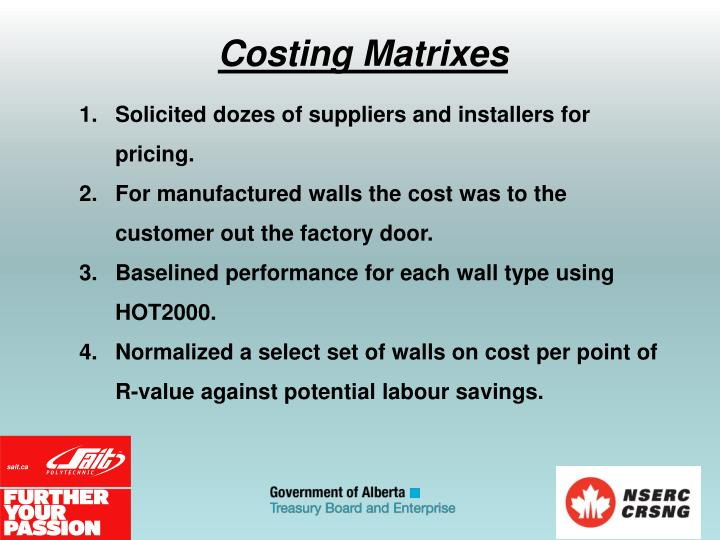 Solicited dozes of suppliers and installers for pricing.
