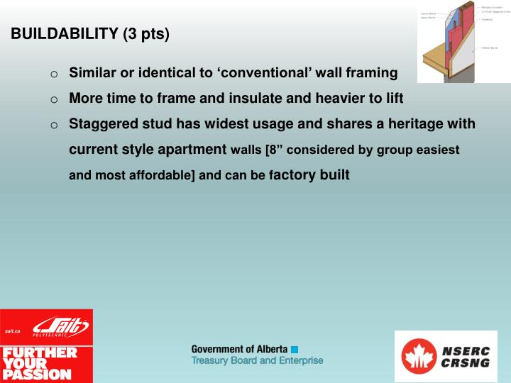 BUILDABILITY (3 pts)