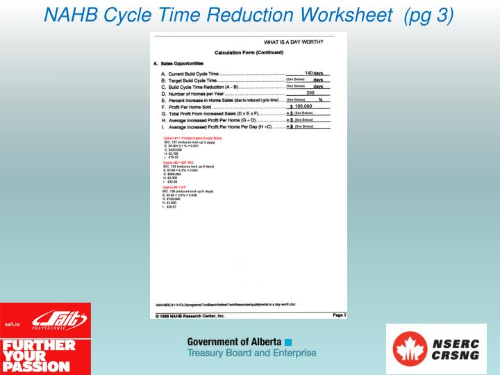 NAHB Cycle Time Reduction Worksheet  (pg 3)