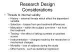 research design considerations2