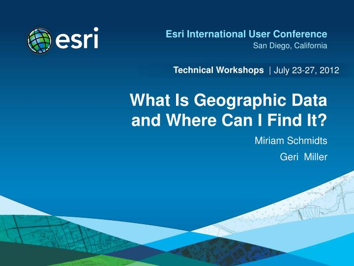 what is geographic data and where can i find it n.