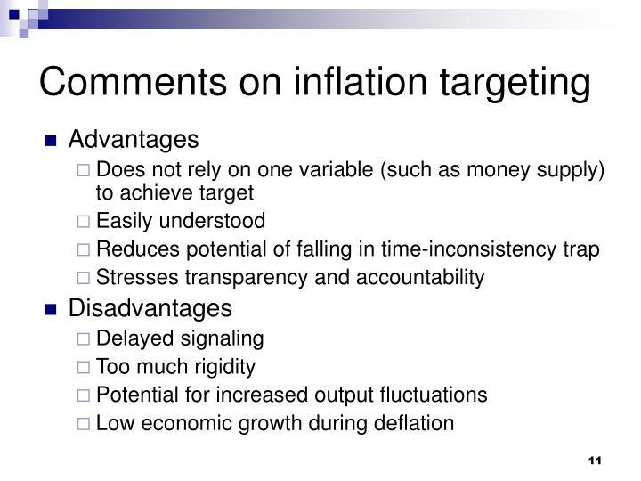 Comments on inflation targeting