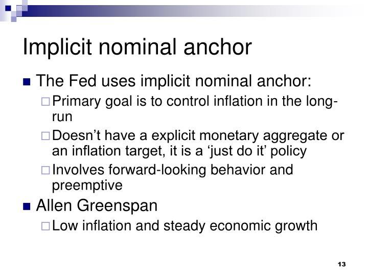 Implicit nominal anchor