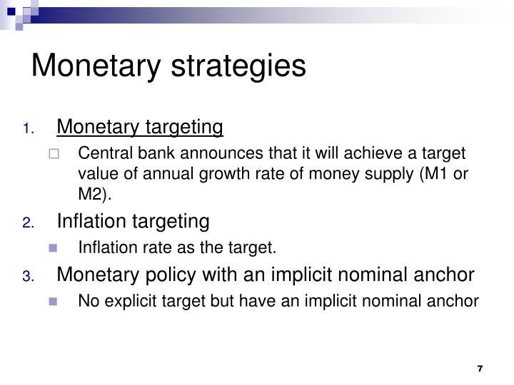 Monetary strategies