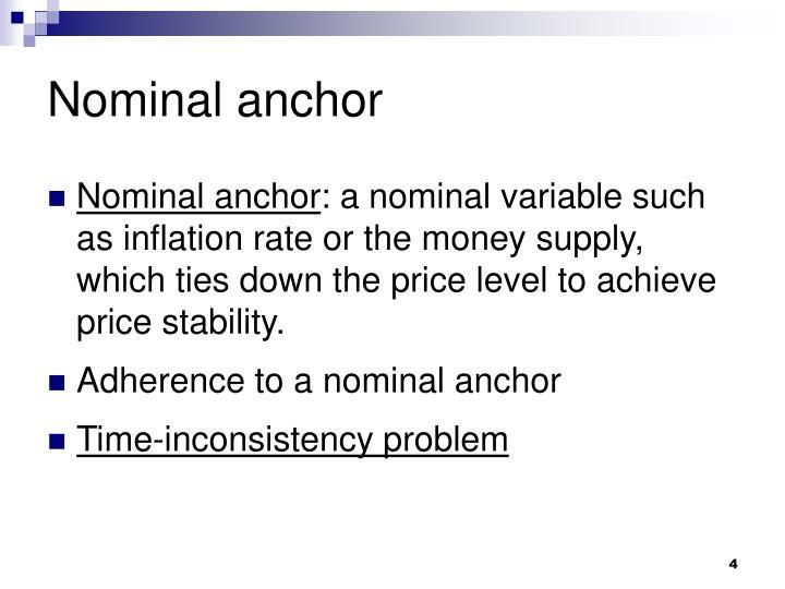 Nominal anchor