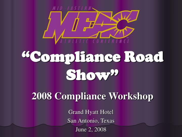 2008 compliance workshop n.