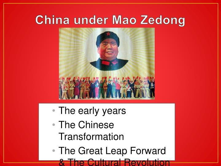 China under mao zedong1