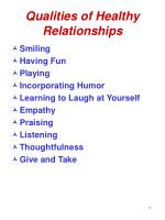 qualities of healthy relationships