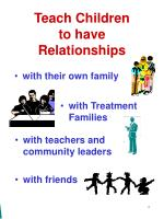 teach children to have relationships