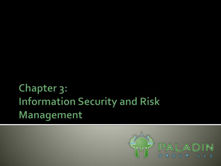 chapter 3 information security and risk management n.