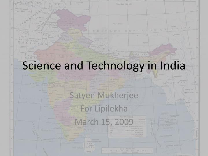science and technology in india n.