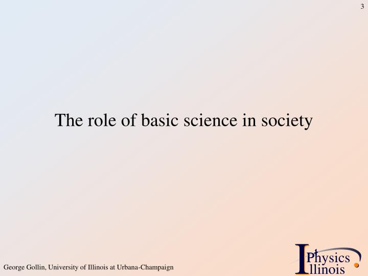 The role of basic science in society