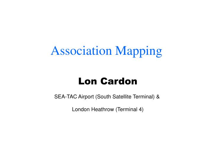 association mapping n.