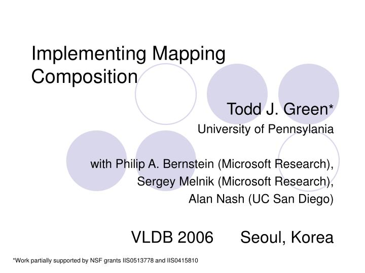 implementing mapping composition n.