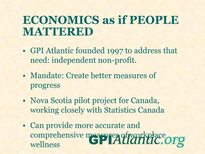 ECONOMICS as if PEOPLE MATTERED