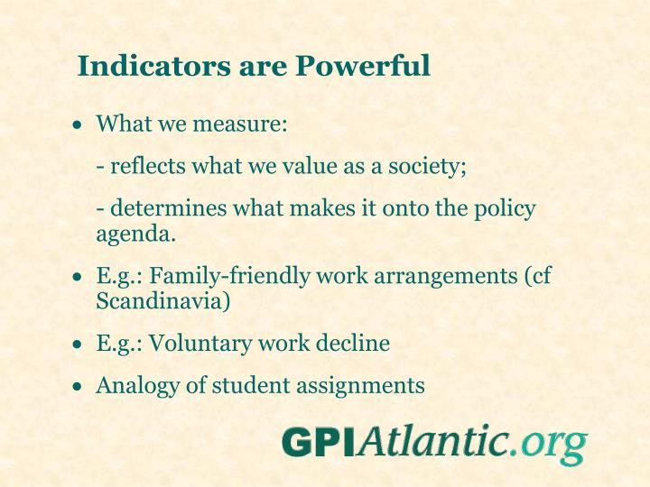 Indicators are Powerful