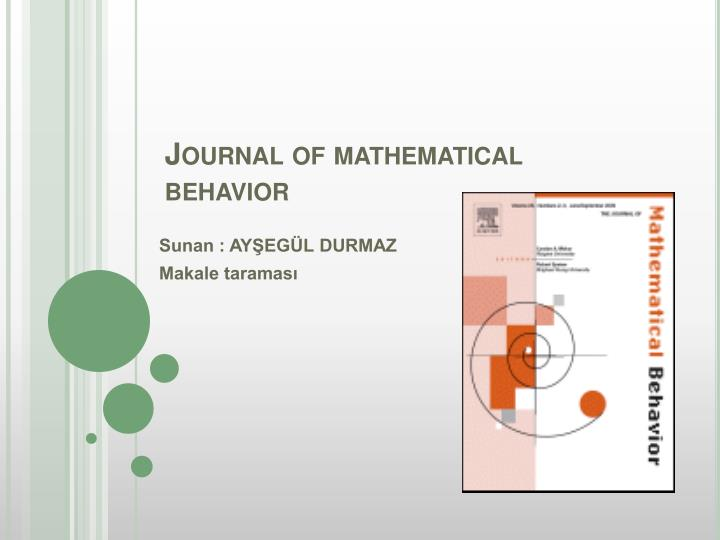 journal of mathematical behavior n.