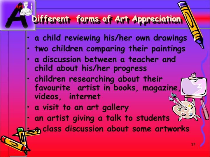 Different  forms of Art Appreciation