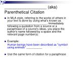 aka parenthetical citation