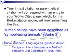 human beings have been described as symbol using animals burke 3