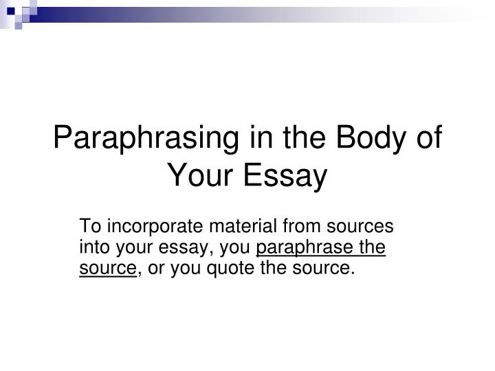 the source essay