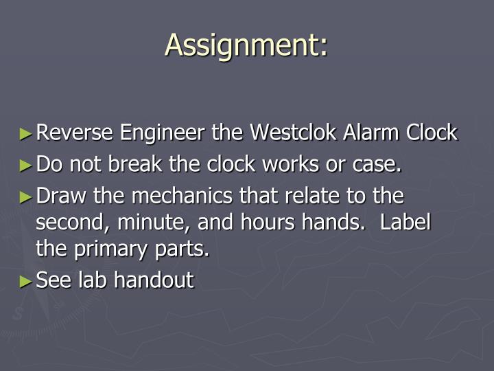 Assignment: