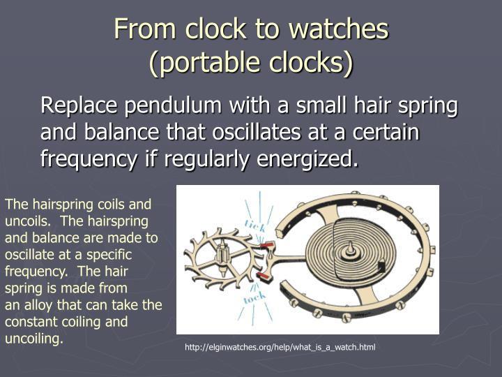 From clock to watches