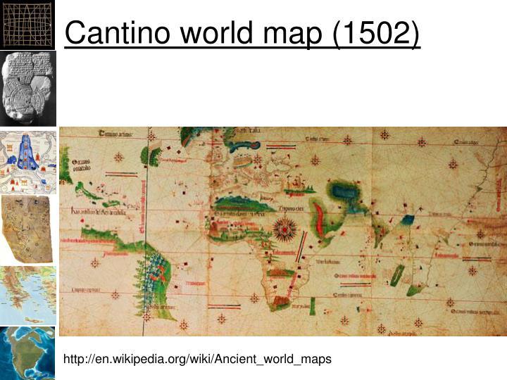 Cantino world map (1502)